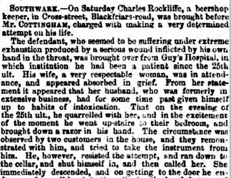 Newspaper report of ttempted murder